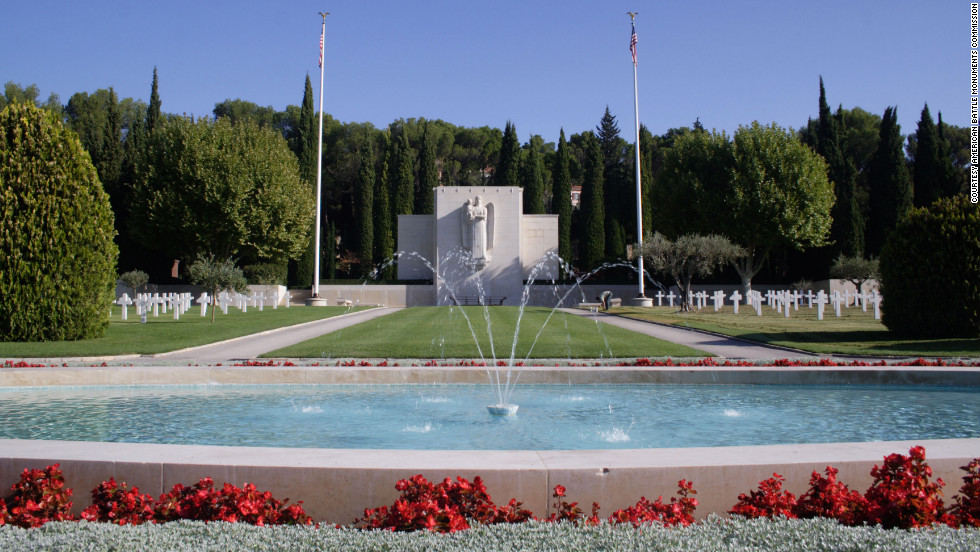 Rhone American Cemetery in southern France contains the resting places of 864 World War II American war dead.