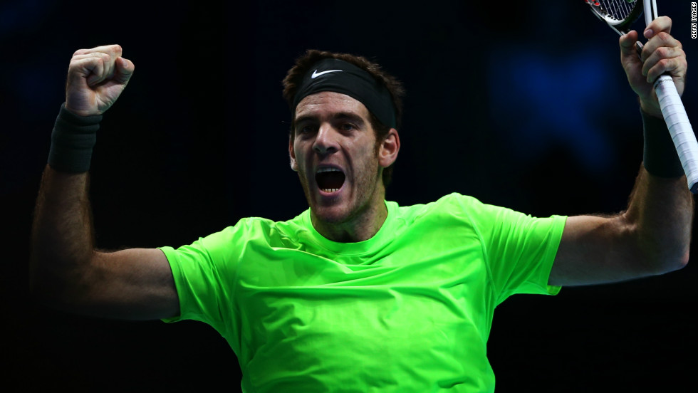 Del Potro last played in the season-ending tournament in 2009, when he lost in the final. Since then the Argentine has battled his way back into the top 10 following a serious wrist injury.