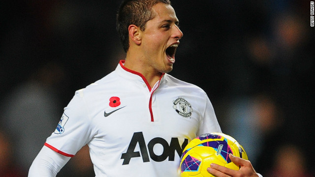 Mexico striker Javier Hernandez claimed the game ball after his match-winning heroics for  Manchester United at Villa Park on Saturday.