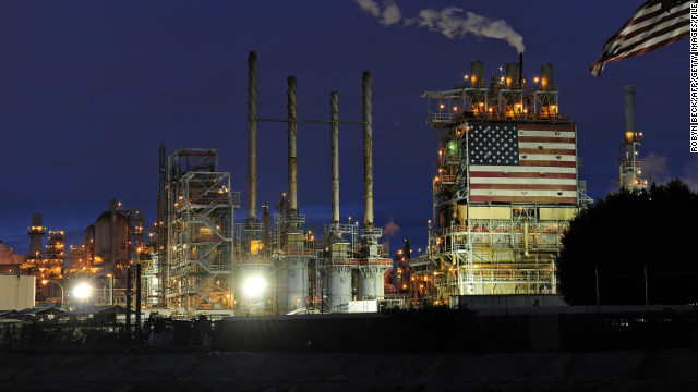 A view of the British Petroleum (BP) Carson refinery in Carson, California.