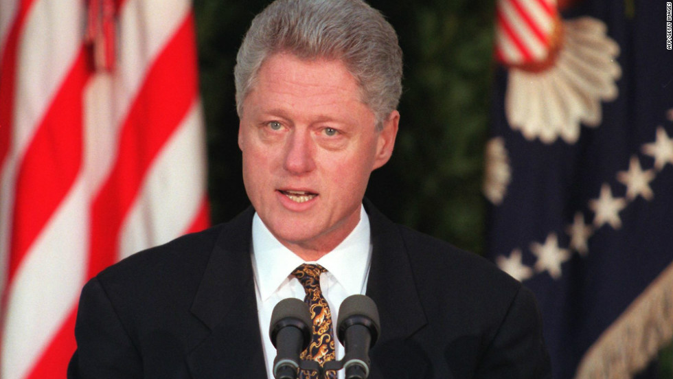 After denying having any sexual relations with former White House intern Monica Lewinsky, President Bill Clinton admits to the affair and apologizes for misleading the country on December 8, 1998. He later becomes the second president in U.S. history to be impeached by the U.S. House.