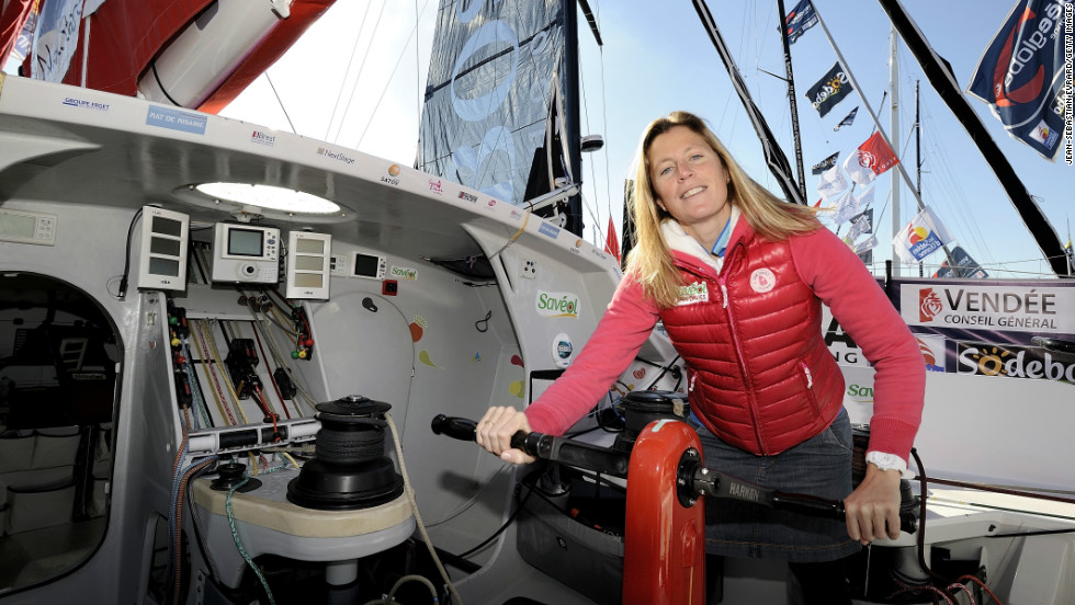Briton Samantha Davies was hoping to make history as the only woman to ever win the race. The mother-of-one finished fourth in 2008-2009, but was forced to retire after her mast snapped off.