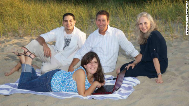 Carly Fleischmann, with her therapists and her father, learned to communicate through technology.