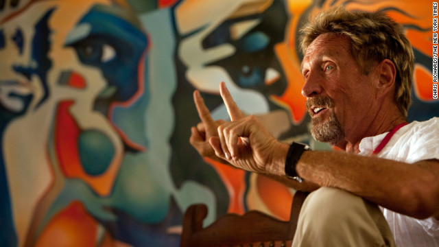 John McAfee vanishes in Belize