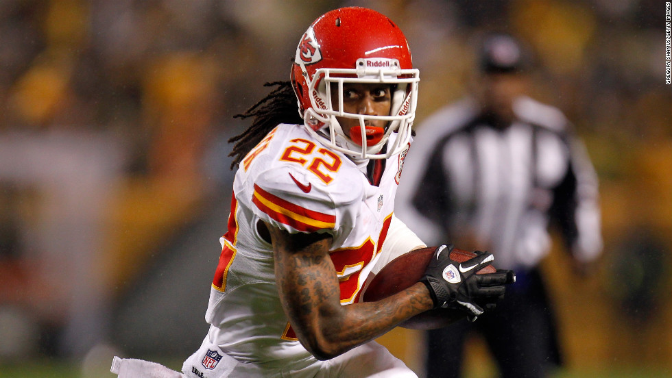 Dexter McCluster of the Kansas City Chiefs runs the ball on Monday.
