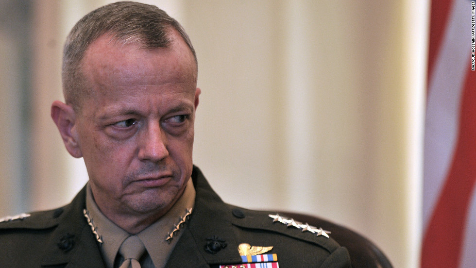 "<a href=""http://www.cnn.com/2012/11/13/us/gen-allen-profile/index.html "" target=""_blank"">Gen. John Allen</a>, 58, U.S. commander in Afghanistan, <a href=""http://www.cnn.com/2012/11/13/us/petraeus-allen-investigation/index.html"" target=""_blank"">is under investigation</a> for allegedly sending inappropriate messages to Jill Kelley. He denies wrongdoing, according to a senior defense official. Kelley had complained about anonymous e-mails she received, which were found to be from Paula Broadwell. The FBI probe of those e-mails led to the discovery of Broadwell's affair with CIA Director David Petraeus."