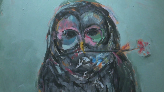 Artists express pain through paintings