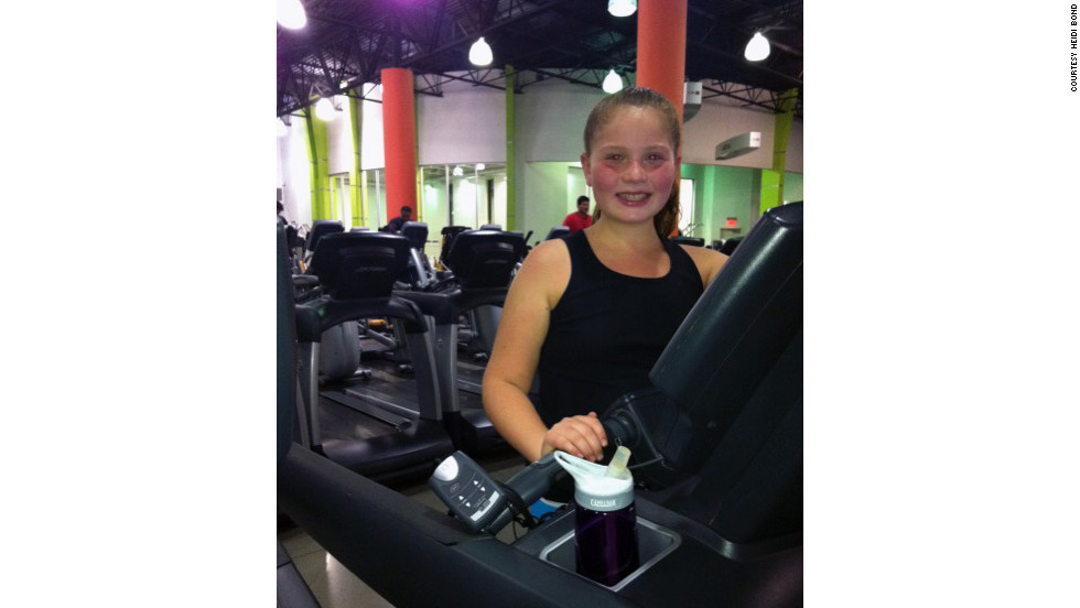 Every day Breanna and her mom workout for at least an hour and 15 minutes.