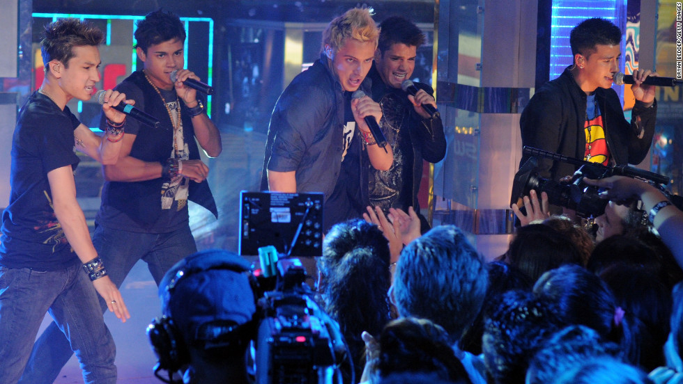 Menudo performs in 2008. Originally formed in the '70s, they helped launch Ricky Martin's career. The boy band has had many members over the years.