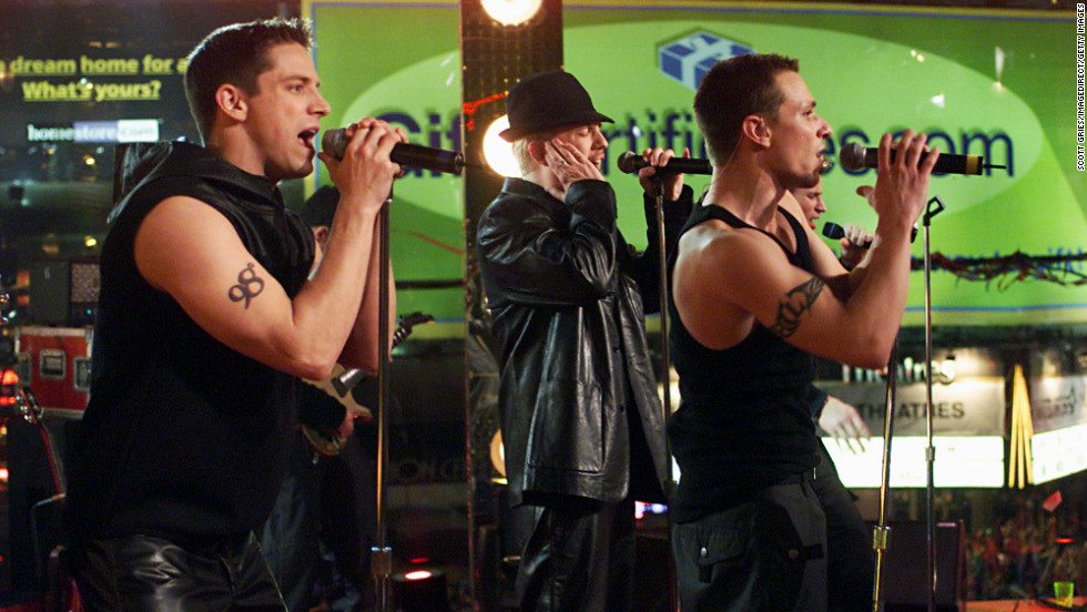 "98 Degrees perform in 1999, made up of brothers Nick and Drew Lachey, Justin Jeffre and Jeff Timmons. The group released three albums, in addition to one Christmas album, between 1997 and 2000. Their latest album, ""2.0,"" arrived in 2013."