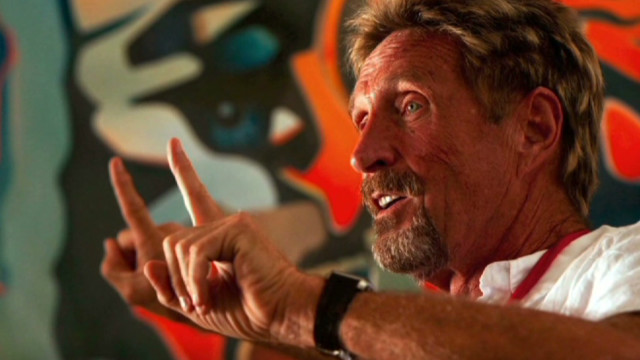 McAfee: Government decided to off me
