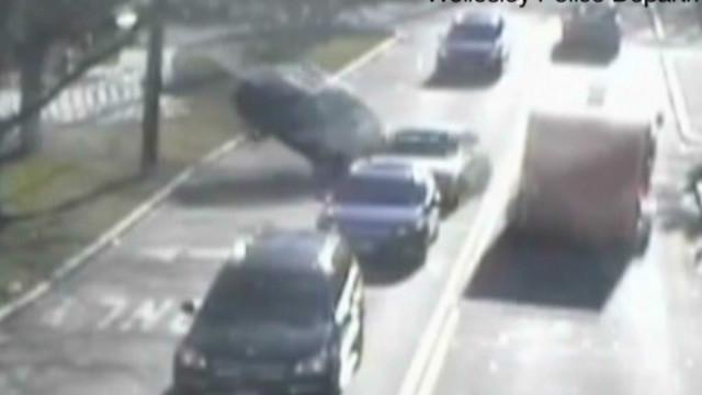 Cops: Drunk ER doc's car goes airborne