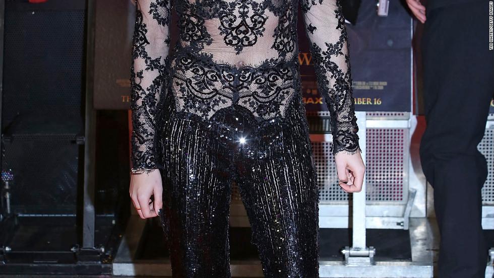 """Kristen Stewart attends the UK premiere of """"Breaking Dawn - Part 2"""" in London."""