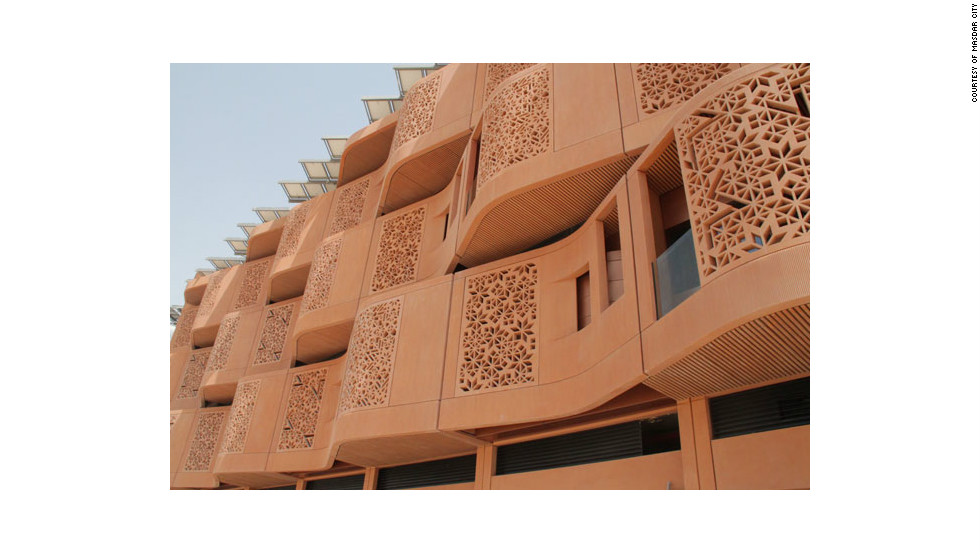 The Masdar Institute campus features a latticed motif on its building.