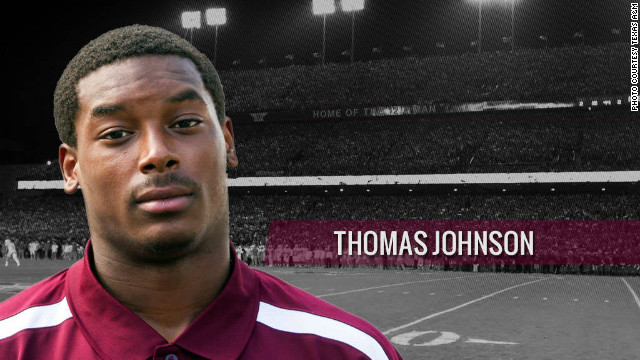 Texas A&M receiver Thomas Johnson
