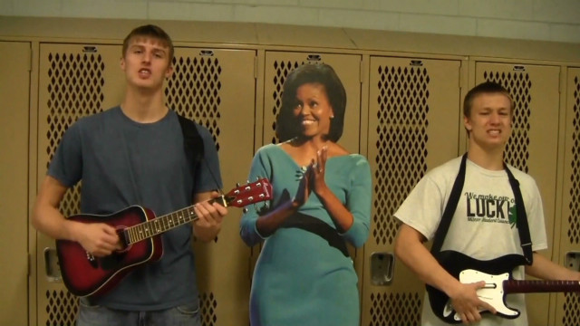 Students sing complaint to first lady