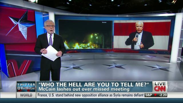 McCain skips Benghazi briefing