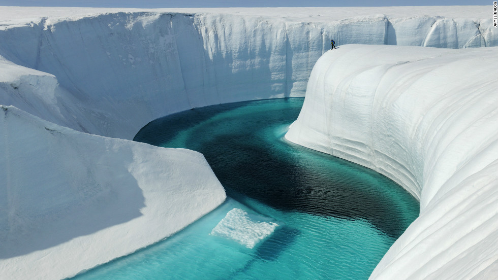 Birthday Canyon, Greenland Ice Sheet, Greenland, June 2009. <em>Courtesy of James Balog </em></em><em>
