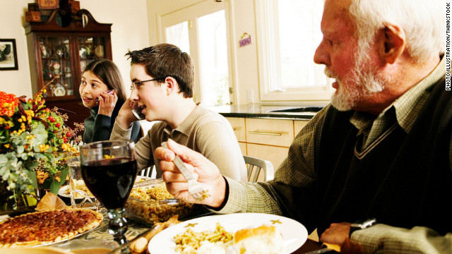 Are you old-fashioned about using smartphones at the holiday dinner table?
