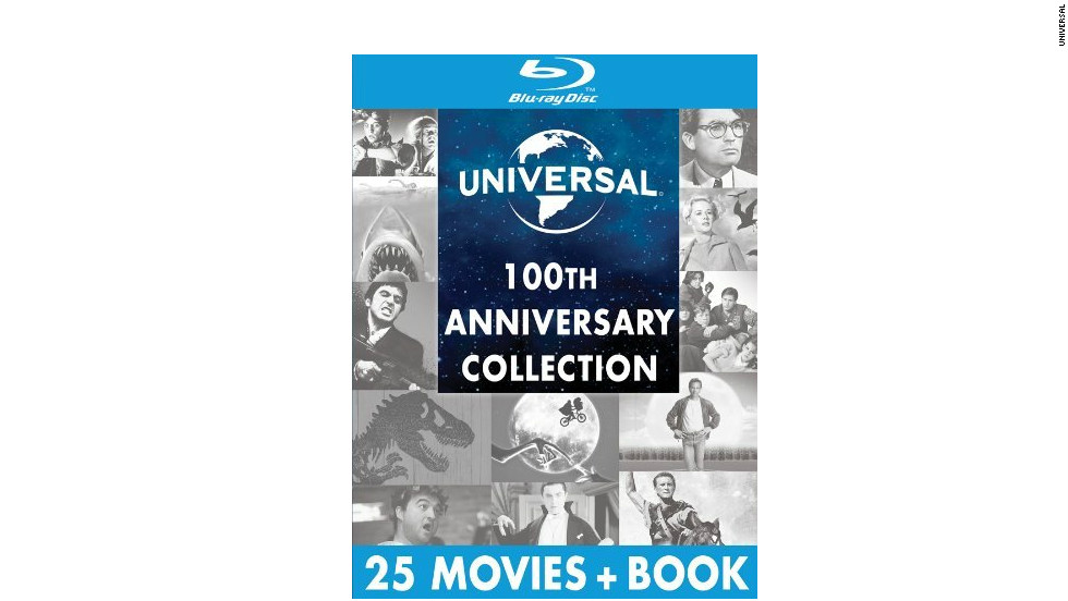 "From its original niche as the maker of classic horror films to its status as blockbuster producer, Universal Studios has plenty to show for its century in business. This collection features 25 of the studio's films, ranging from best picture Oscar winners to ""The Fast and the Furious,"" which will either please a wide audience ... or earn <a href=""http://www.amazon.com/Universal-100th-Anniversary-Collection-Blu-ray/dp/B008YB935K"" target=""_blank"">hilarious reviews on Amazon</a>. (Universal, 25 DVDs)"
