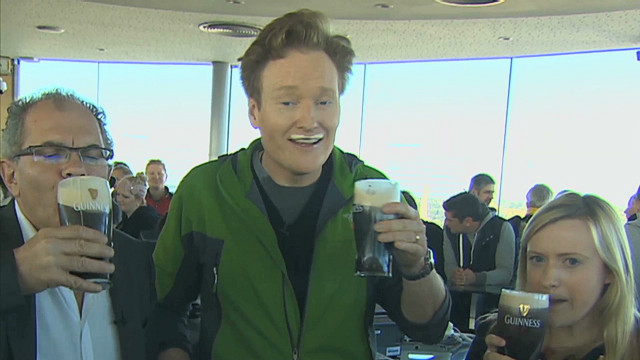 Conan: 'I want my free Guinness already'