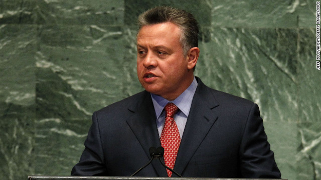 Jordan's King Abdullah addresses the U.N. General Assembly in September.
