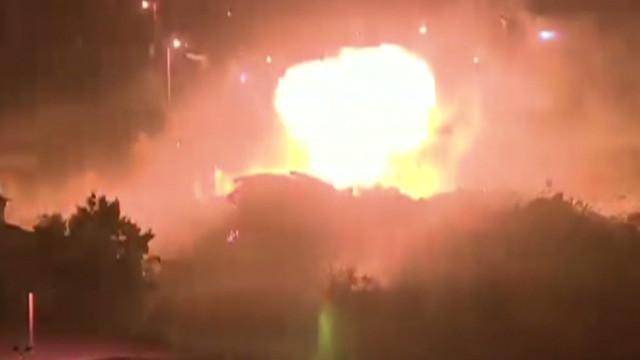 Massive explosion in Gaza City