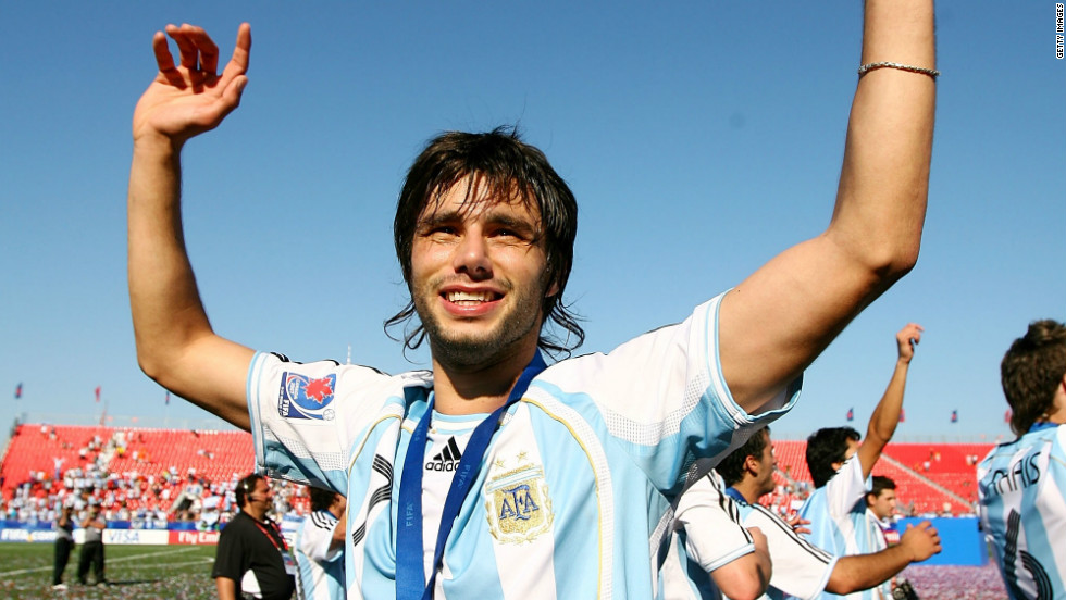 West Brom defender Jonas Olsson has compared Yacob to Barcelona's holding midfielder Javier Mascherano. Yacob is pictured here celebrating Argentina's FIFA Under-20 World Cup final win over the Czech Republic at the National Soccer Stadium  in Toronto, Canada.
