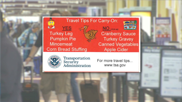TSA: No cranberry sauce in the carry-on