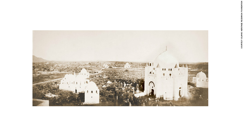 This 1924 picture shows tombs at Medina's al-Baqi cemetery -- situated next to the Mosque of the Prophet and believed to contain a number of the Prophet Mohammed's wives, children and other relatives -- which were destroyed by the Saudis in 1925, prompting an outcry from Muslims around the world.