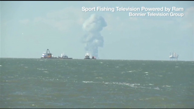 Oil platform explodes in Gulf of Mexico