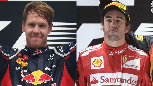 Sebasttian Vettel won his third successive world title on Sunday, denying championship rival Fernando Alonso by three points.