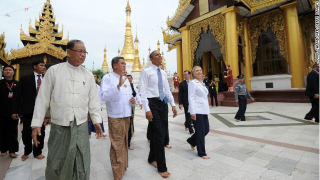 Obama's historic visit to Myanmar
