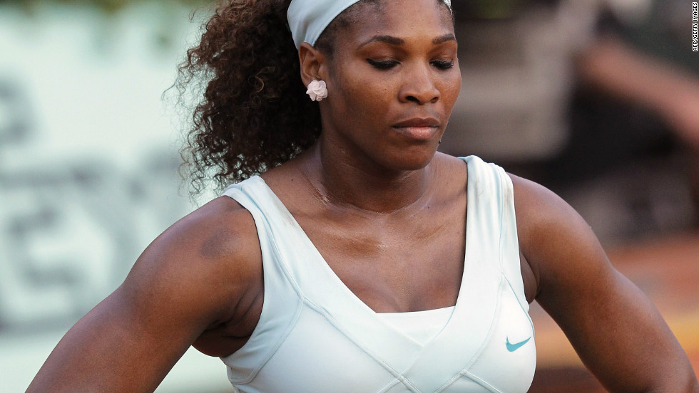 After a disappointing start to 2012, the nadir of Serena's season came with a first round French Open exit at the hands of world No. 111 Virginie Razzano. She told CNN she didn't leave her house for two days after her surprise defeat.