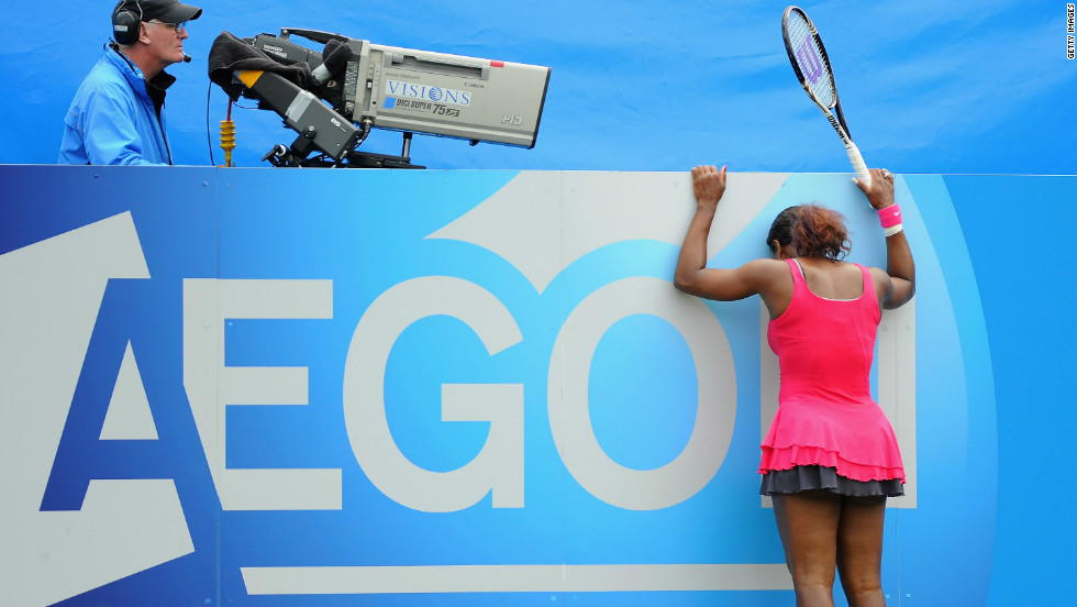 After nearly a year out with a foot injury and a life-threatening blood clot on her lung, Serena returned to the Tour in June 2011, at Eastbourne. Things didn't go exactly to plan upon her return.