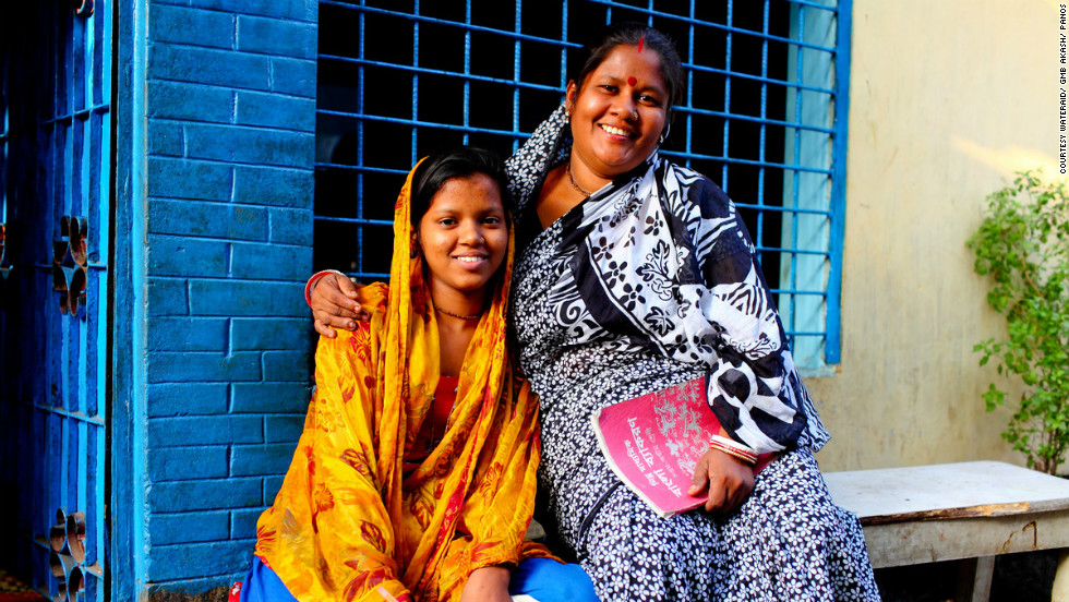 "Bashona Sharkar and her daughter Tithi live in Dhaka, Bangladesh. Bashona says that the improvement in sanitation has allowed her daughter to get an education: ""Before this situation, I don't think I could send my child to this school. We used to spend lots of money on doctors because of the poor sanitation ... but now we can spend more money sending our children to school and college."""