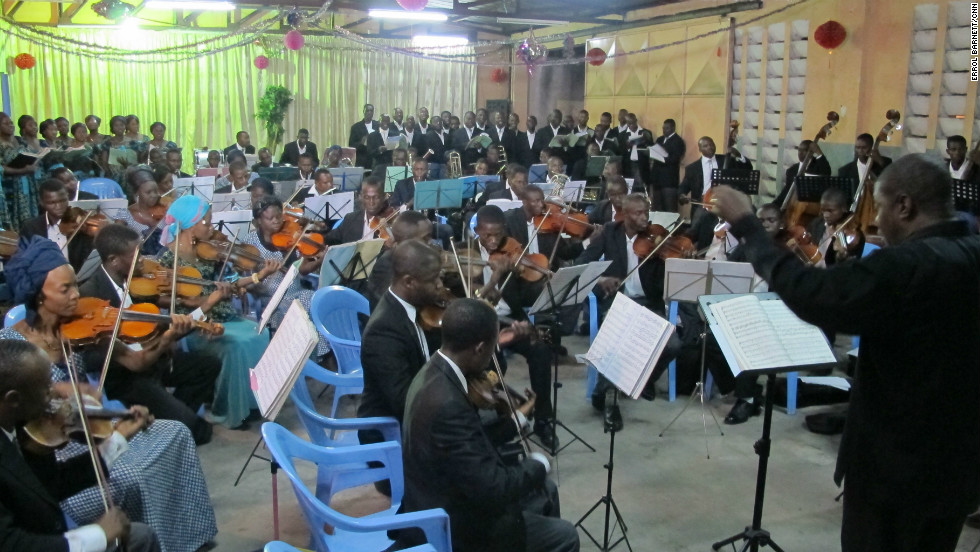 The Kinshasa-based orchestra holds regular concerts in a bid to inspire a new generation of musicians and help locals to discover the world of classical music.