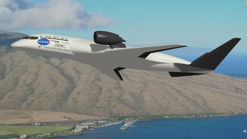The wing and body of this design from California Polytechnic State University is meant to allow steep landings and takeoffs. Those kinds of takeoffs and landings are generally quieter for nearby residents.