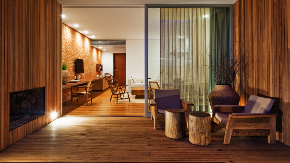 Located in Porto Feliz, 100km away from the bustling business hub of Sao Paulo, the Fasano Boa Vista resort boasts was designed by Brazilian architect, Isay Weinfeld.