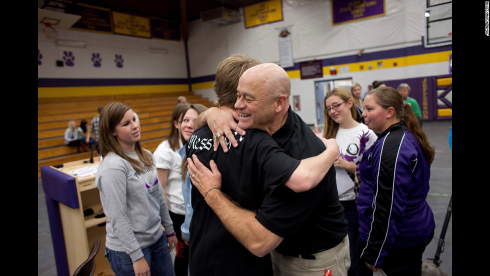 "McCarthy hugs students and gives them advice. Many embrace him and tell him personal stories about how they've dealt with alcoholism in their family or among their friends. ""It's really them, not me, that are seen in CNN Heroes,"" McCarthy said. ""To them, it's growing up by changing this situation a generation at a time."""