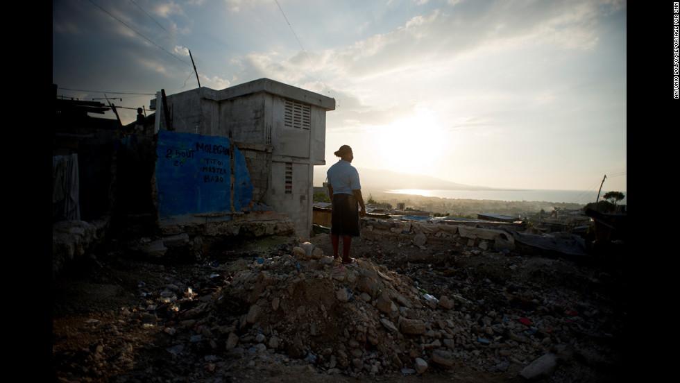 Villard-Appolon overlooks Port-au-Prince from the hills of Fort Nacional.