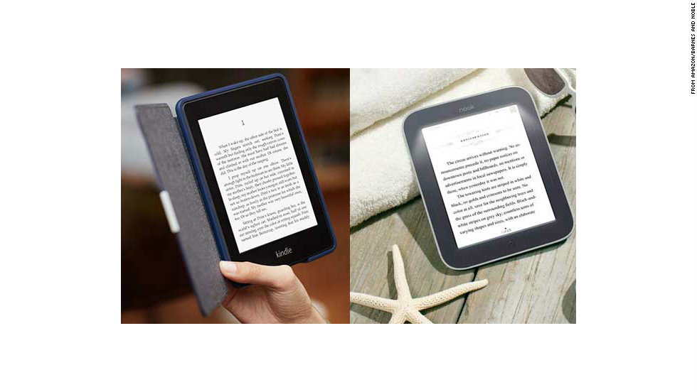 "Tablets are perfect for playing games and watching movies, but avid readers might prefer a mono-tasking device that's easy on the eyes. These E Ink readers have excellent battery life and work in low light. The <a href=""http://www.amazon.com/Kindle-Paperwhite-Touch-light/dp/B007OZNZG0"" target=""_blank"">Kindle Paperwhite</a> (left, $119 with ads) is great for Amazon Prime members. The <a href=""http://www.barnesandnoble.com/p/nook-simple-touch-with-glowlight-barnes-noble/1108046469"" target=""_blank"">Nook Simple Touch with GlowLight</a> (right, $119) reads standard ePub files."