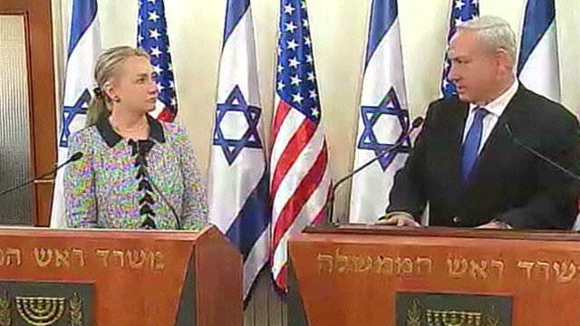 Clinton reinforces support for Israel