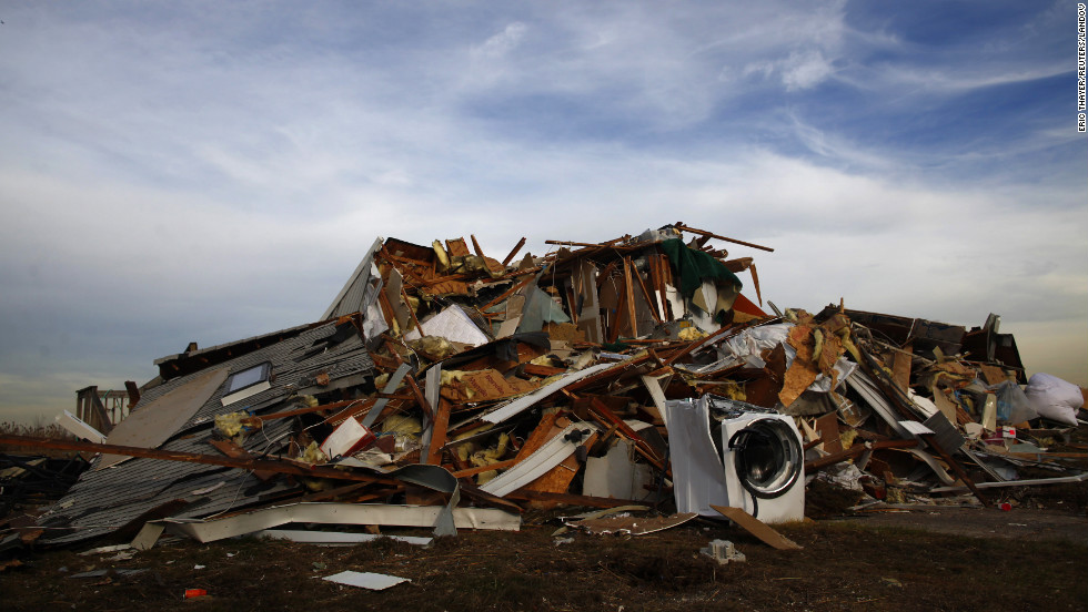 Little remains of this home in Union Beach, New Jersey, on Tuesday, November 20, after Superstorm Sandy devastated the area.