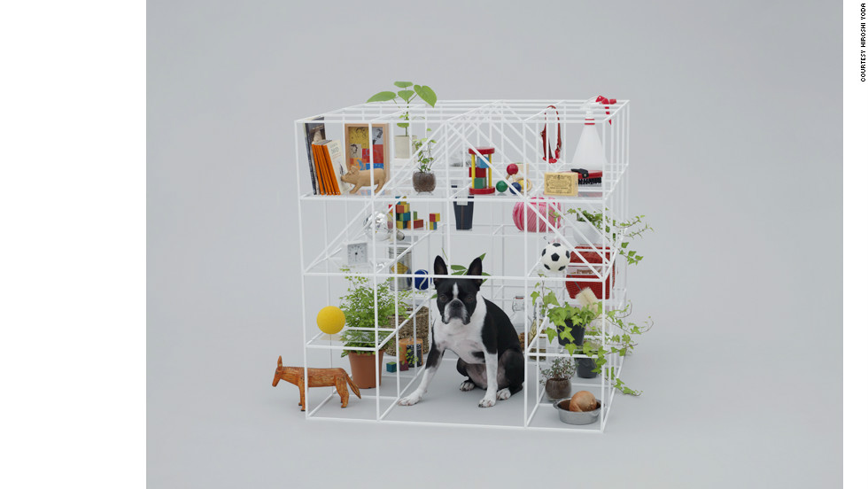 "'""No dog, no life!"" house by Sou Fujimoto for a Boston Terrier."