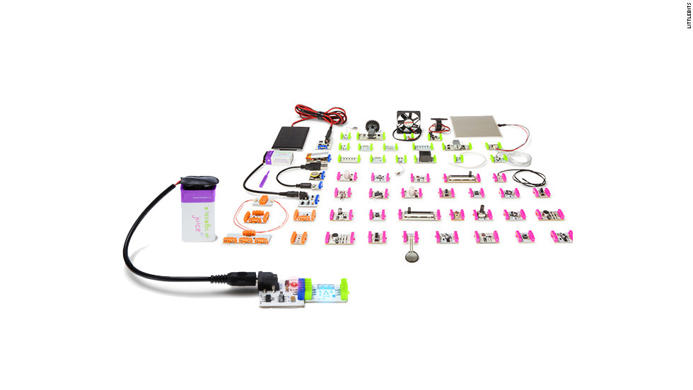 "<a href=""http://littlebits.cc/"" target=""_blank"">LittleBits</a> are like electronic Legos. Kids can build little machines with the various circut boards. The pieces snap together and have different functions, such as making sounds, lighting up and acting as motors. The company has a special $49 <a href=""http://shop.littlebits.com/products/holiday-kit"" target=""_blank"">holiday kit</a> for making ornaments and other decorations."
