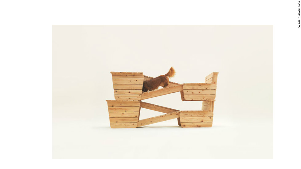 The design can be stacked for added entertainment for the dog.