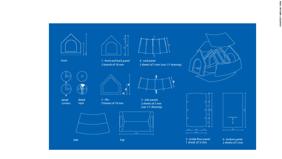The blueprint for the Beagle House.