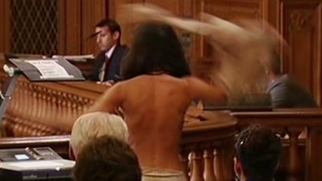 Nudity ban leads to protest strip