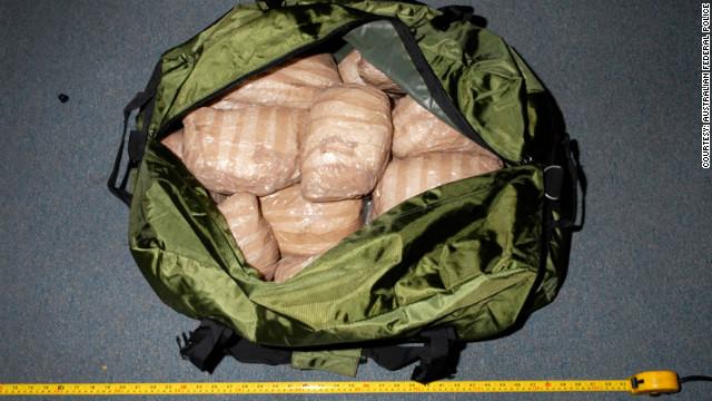 Australian police seize $246 million worth of drugs smuggled inside steamroller.